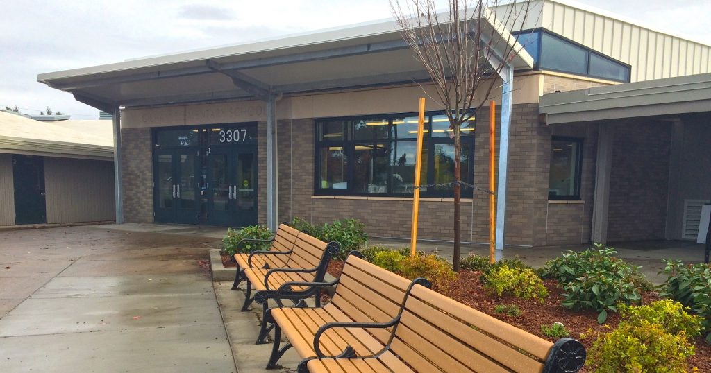 Gilham Elementary School's entry shows some of the improvements made possible by bond funds