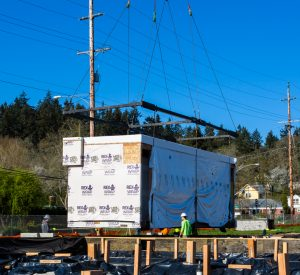 The first modular of the new Willard facility is placed.