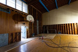 Pictured is the renovation of the Willard Gym.